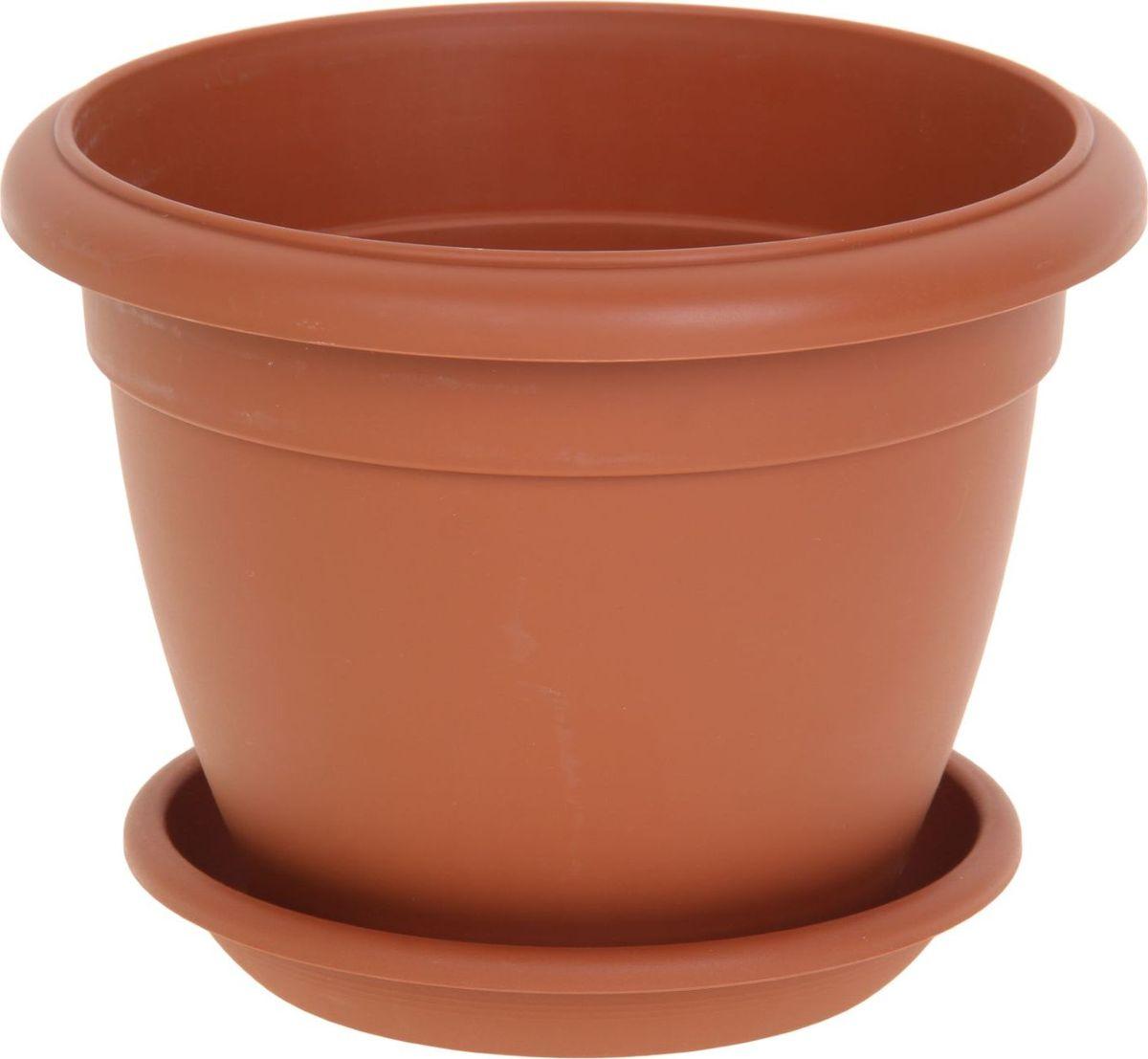 Горшок для цветов ТЕК.А.ТЕК Le Jardin, цвет: терракотовый, 6 л. 1147168531-105Любой, даже самый современный и продуманный интерьер будет не завершённым без растений. Они не только очищают воздух и насыщают его кислородом, но и заметно украшают окружающее пространство. Такому полезному члену семьи просто необходимо красивое и функциональное кашпо, оригинальный горшок или необычная ваза! Мы предлагаем - Горшок для цветов Le Jardin, d=25 см, терракотовый! Оптимальный выбор материала пластмасса! Почему мы так считаем? Малый вес. С лёгкостью переносите горшки и кашпо с места на место, ставьте их на столики или полки, подвешивайте под потолок, не беспокоясь о нагрузке. Простота ухода. Пластиковые изделия не нуждаются в специальных условиях хранения. Их легко чистить достаточно просто сполоснуть тёплой водой. Никаких царапин. Пластиковые кашпо не царапают и не загрязняют поверхности, на которых стоят. Пластик дольше хранит влагу, а значит растение реже нуждается в поливе. Пластмасса не пропускает воздух корневой системе растения не грозят резкие перепады температур. Огромный выбор форм, декора и расцветок вы без труда подберёте что-то, что идеально впишется в уже существующий интерьер. Соблюдая нехитрые правила ухода, вы можете заметно продлить срок службы горшков, вазонов и кашпо из пластика: всегда учитывайте размер кроны и корневой системы растения (при разрастании большое растение способно повредить маленький горшок)берегите изделие от воздействия прямых солнечных лучей, чтобы кашпо и горшки не выцветалидержите кашпо и горшки из пластика подальше от нагревающихся поверхностей. Создавайте прекрасные цветочные композиции, выращивайте рассаду или необычные растения, а низкие цены позволят вам не ограничивать себя в выборе.