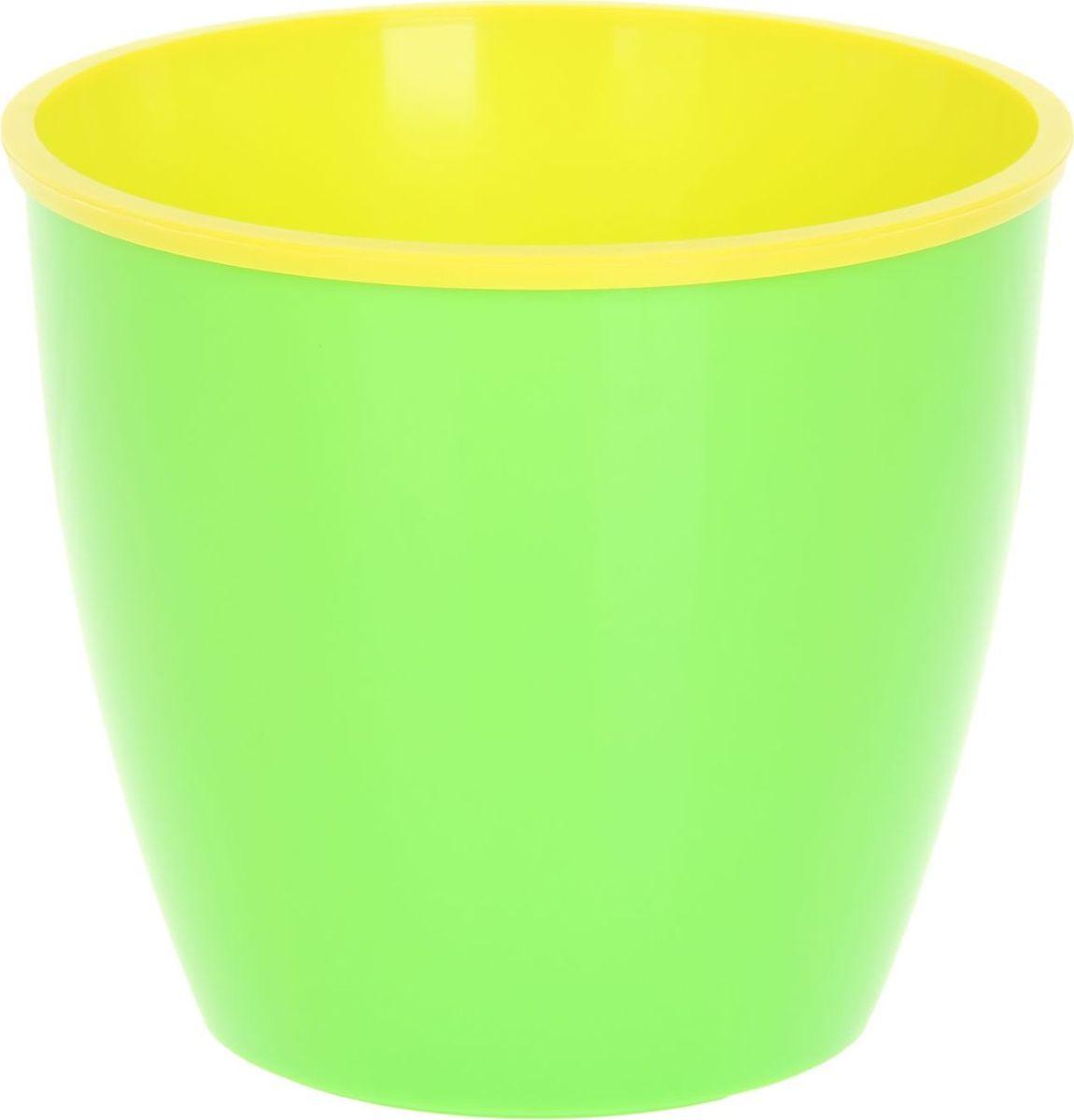 Горшок для цветов ТЕК.А.ТЕК Les Couleurs, цвет: зеленый, желтый, 6,5 лGC220/05Любой, даже самый современный и продуманный интерьер будет не завершённым без растений. Они не только очищают воздух и насыщают его кислородом, но и заметно украшают окружающее пространство. Такому полезному члену семьи просто необходимо красивое и функциональное кашпо, оригинальный горшок или необычная ваза! Мы предлагаем - Горшок для цветов 6,5 л Les Couleurs, цвет зеленый,желтый! Оптимальный выбор материала пластмасса! Почему мы так считаем? Малый вес. С лёгкостью переносите горшки и кашпо с места на место, ставьте их на столики или полки, подвешивайте под потолок, не беспокоясь о нагрузке. Простота ухода. Пластиковые изделия не нуждаются в специальных условиях хранения. Их легко чистить достаточно просто сполоснуть тёплой водой. Никаких царапин. Пластиковые кашпо не царапают и не загрязняют поверхности, на которых стоят. Пластик дольше хранит влагу, а значит растение реже нуждается в поливе. Пластмасса не пропускает воздух корневой системе растения не грозят резкие перепады температур. Огромный выбор форм, декора и расцветок вы без труда подберёте что-то, что идеально впишется в уже существующий интерьер. Соблюдая нехитрые правила ухода, вы можете заметно продлить срок службы горшков, вазонов и кашпо из пластика: всегда учитывайте размер кроны и корневой системы растения (при разрастании большое растение способно повредить маленький горшок)берегите изделие от воздействия прямых солнечных лучей, чтобы кашпо и горшки не выцветалидержите кашпо и горшки из пластика подальше от нагревающихся поверхностей. Создавайте прекрасные цветочные композиции, выращивайте рассаду или необычные растения, а низкие цены позволят вам не ограничивать себя в выборе.