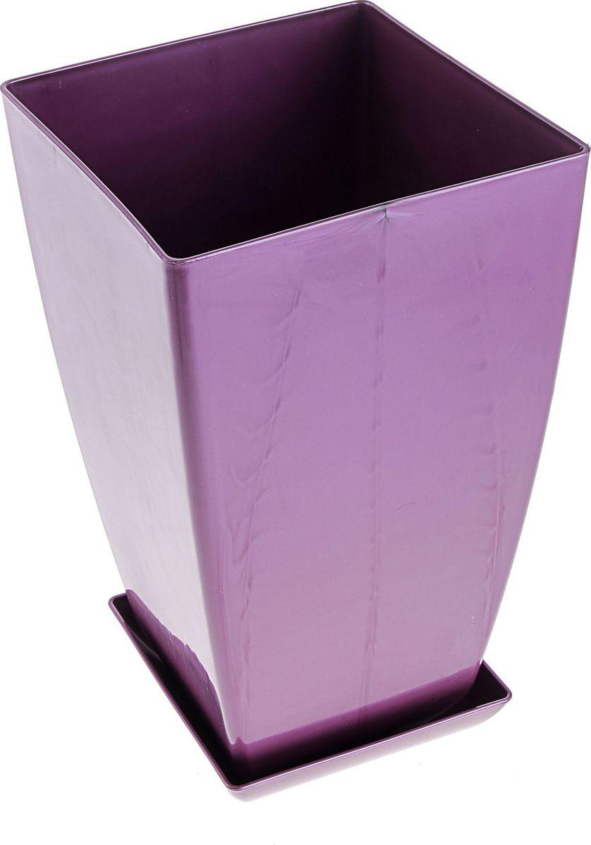 Горшок для цветов Мегапласт Квадрат, с поддоном, цвет: фиолетовый, 10 л466030Любой, даже самый современный и продуманный интерьер будет не завершённым без растений. Они не только очищают воздух и насыщают его кислородом, но и заметно украшают окружающее пространство. Такому полезному &laquo члену семьи&raquoпросто необходимо красивое и функциональное кашпо, оригинальный горшок или необычная ваза! Мы предлагаем - Горшок для цветов с поддоном, 20х20 см Квадрат 10 л, цвет рубиновый пераламутр!Оптимальный выбор материала &mdash &nbsp пластмасса! Почему мы так считаем? Малый вес. С лёгкостью переносите горшки и кашпо с места на место, ставьте их на столики или полки, подвешивайте под потолок, не беспокоясь о нагрузке. Простота ухода. Пластиковые изделия не нуждаются в специальных условиях хранения. Их&nbsp легко чистить &mdashдостаточно просто сполоснуть тёплой водой. Никаких царапин. Пластиковые кашпо не царапают и не загрязняют поверхности, на которых стоят. Пластик дольше хранит влагу, а значит &mdashрастение реже нуждается в поливе. Пластмасса не пропускает воздух &mdashкорневой системе растения не грозят резкие перепады температур. Огромный выбор форм, декора и расцветок &mdashвы без труда подберёте что-то, что идеально впишется в уже существующий интерьер.Соблюдая нехитрые правила ухода, вы можете заметно продлить срок службы горшков, вазонов и кашпо из пластика: всегда учитывайте размер кроны и корневой системы растения (при разрастании большое растение способно повредить маленький горшок)берегите изделие от воздействия прямых солнечных лучей, чтобы кашпо и горшки не выцветалидержите кашпо и горшки из пластика подальше от нагревающихся поверхностей.Создавайте прекрасные цветочные композиции, выращивайте рассаду или необычные растения, а низкие цены позволят вам не ограничивать себя в выборе.