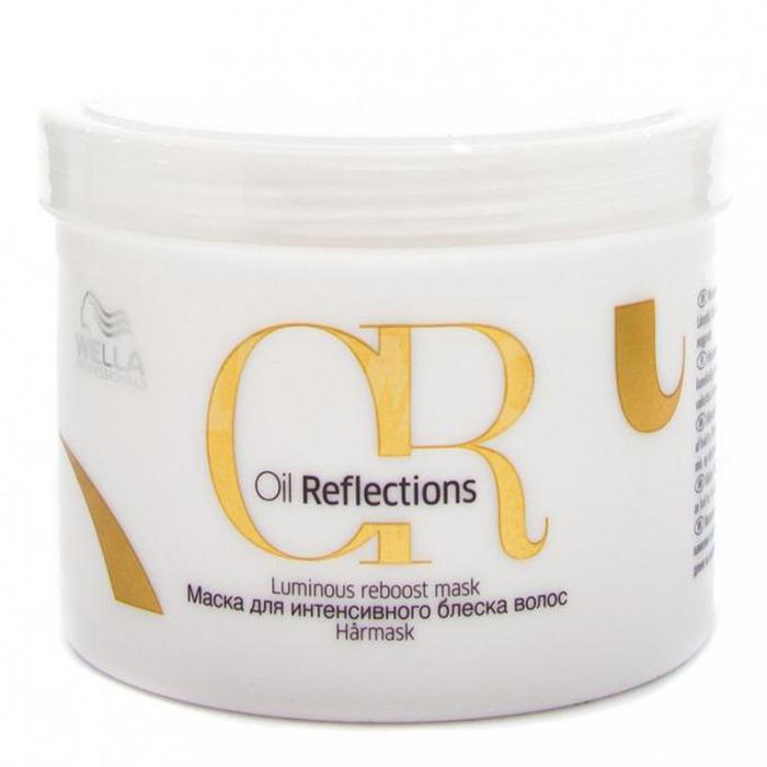 Wella Oil Reflections Luminous Reboost Mask Маска для интенсивного блеска волос, 500 мл81557390Интенсивная маска для придания сияющего блеска волосам. С маслом камелии и экстрактом белого чая. Подходит для всех типов волос.Нанести по длине на влажные волосы. Оставить на 5 минут и тщательно смыть.Объем: 500 мл