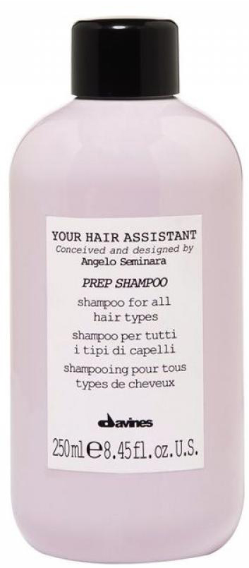 Davines Your Hair Assistant Prep Shampoo Универсальный шампунь для подготовки волос к укладке для всех типов волос, 250 млFS-00897Я хотел создать сбалансированный шампунь с очищающими и увлажняющими свойствами, уникальный, но при этом подходящий для всех типов волос. Анджело Семинара.Увлажняющий питательный шампунь с насыщенной и богатой пеной. Подходит для всех типов волос. Мягкая формула деликатно очищает волосы, удаляет остатки стайлинга, оставляя волосы мягкими и легкими, подготовленными к следующему шагу. Без сульфатов и парабенов.Объем: 250 мл