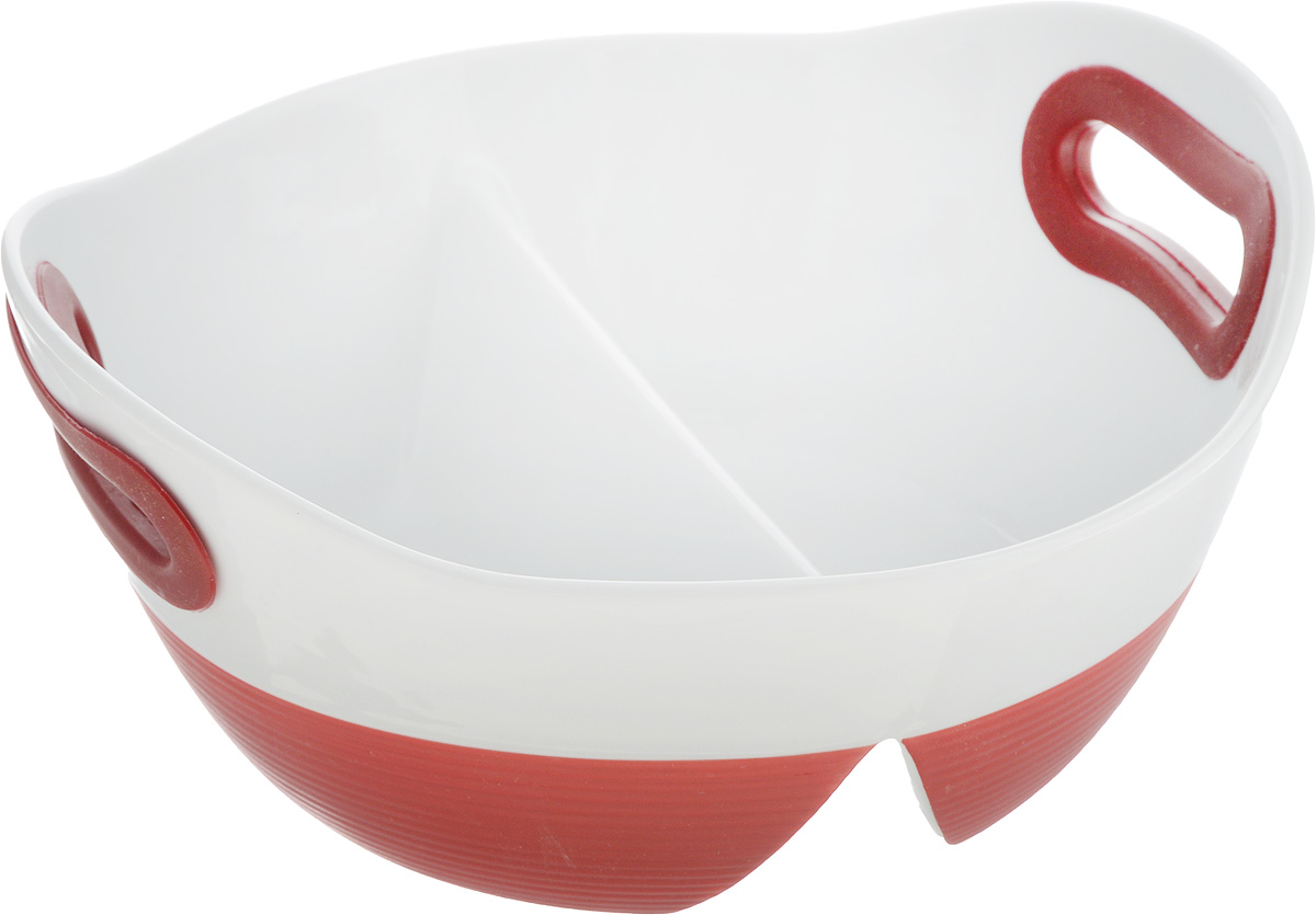 Блюдо для запекания и сервировки BartonSteel, цвет: красный, белый, 1,2 л94672Блюдо для запекания и сервировки BartonSteel изготовлено из высококачественного фарфора. Изделие разделено на две части, благодаря этому вы сможете одновременно приготовить два блюда. Ручки снабжены силиконовыми вставками, что убережет ваши руки от воздействия высоких температур. Блюдо можно использовать в духовке и СВЧ.Размеры блюда: 23 х 21,5 х 10,5 см.