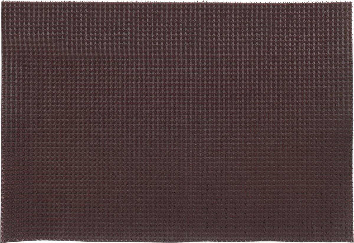 Коврик придверный InLoran, щетинистый, цвет: темный шоколад, 60 х 90 см531-105Коврик придверный InLoran выполнен из полиэтилена высокого давления и полипропилена. Изделие обладает щетиной в форме тюльпана, которая эффективно задерживает грязь. Такой коврик надежно защитит помещение от уличной пыли и грязи. Легко чистится и моется.