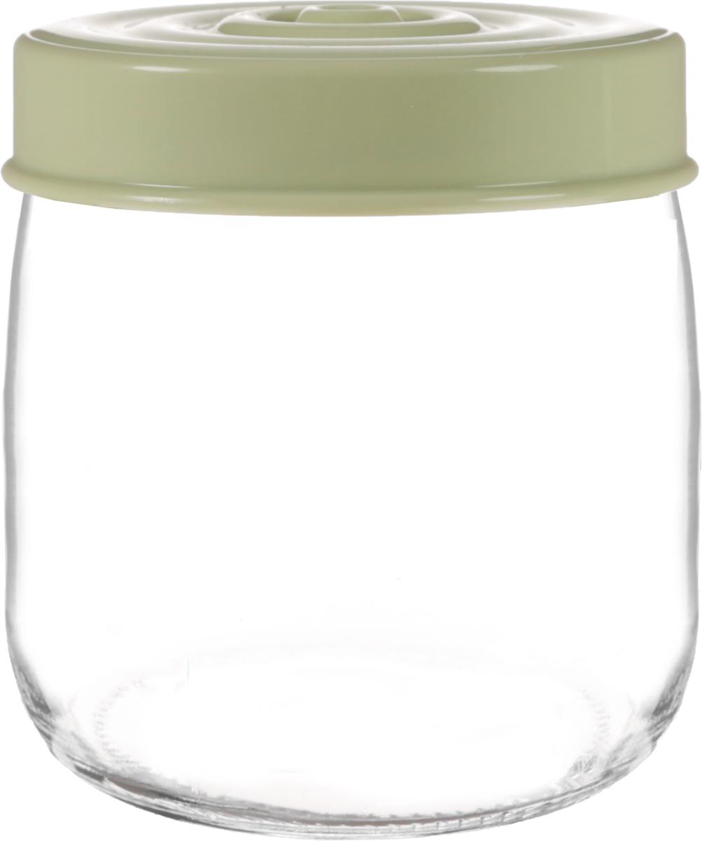 Банка для сыпучих продуктов Herevin, цвет: зеленый, прозрачный, 425 мл. 140357-500FD 992Банка для сыпучих продуктов Herevin выполнена из высококачественного прочного стекла. Изделие снабжено плотно закручивающейся пластиковой крышкой с рельефом. Прозрачные стенки позволяют видеть содержимое. Такая банка отлично подойдет для хранения различных сыпучих продуктов: орехов, сухофруктов, чая, кофе, специй. Диаметр банки: 9 см. Высота банки: 10 см.