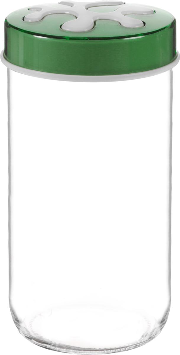 Банка для сыпучих продуктов Herevin, цвет: зеленый, прозрачный, 1 л. 135377-000FA-5125 WhiteБанка для сыпучих продуктов Herevin выполнена из высококачественного прочного стекла. Изделие снабжено плотно закручивающейся пластиковой крышкой с рисунком. Прозрачные стенки позволяют видеть содержимое. Такая банка отлично подойдет для хранения различных сыпучих продуктов: ягод, орехов, чая, кофе, специй. Диаметр банки: 9 см. Высота банки: 19 см.