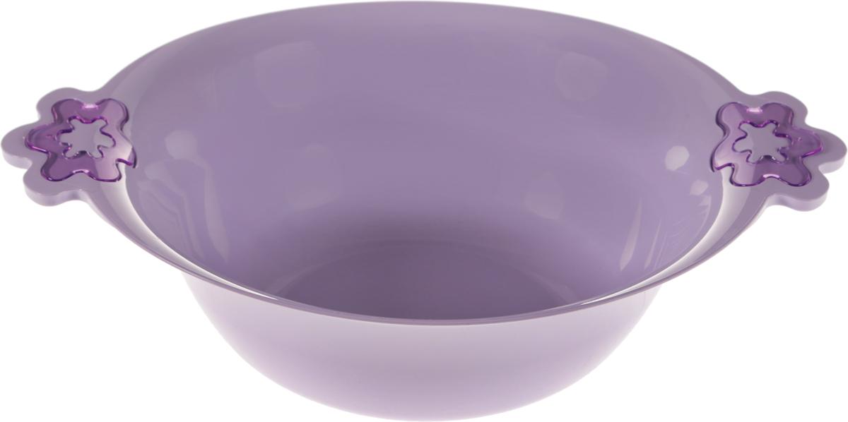 Салатник Herevin, цвет: сиреневый, диаметр 28 см115510Салатник Herevin выполнен из высококачественного пищевого пластика без содержания BPA. Изделие снабжено удобными ручками. Ножки на дне обеспечивают устойчивость. Салатник отлично подойдет для сервировки салатов, закусок, гарниров, а также замешивания теста, мытья фруктов и других нужд. Такой салатник станет практичным приобретением.