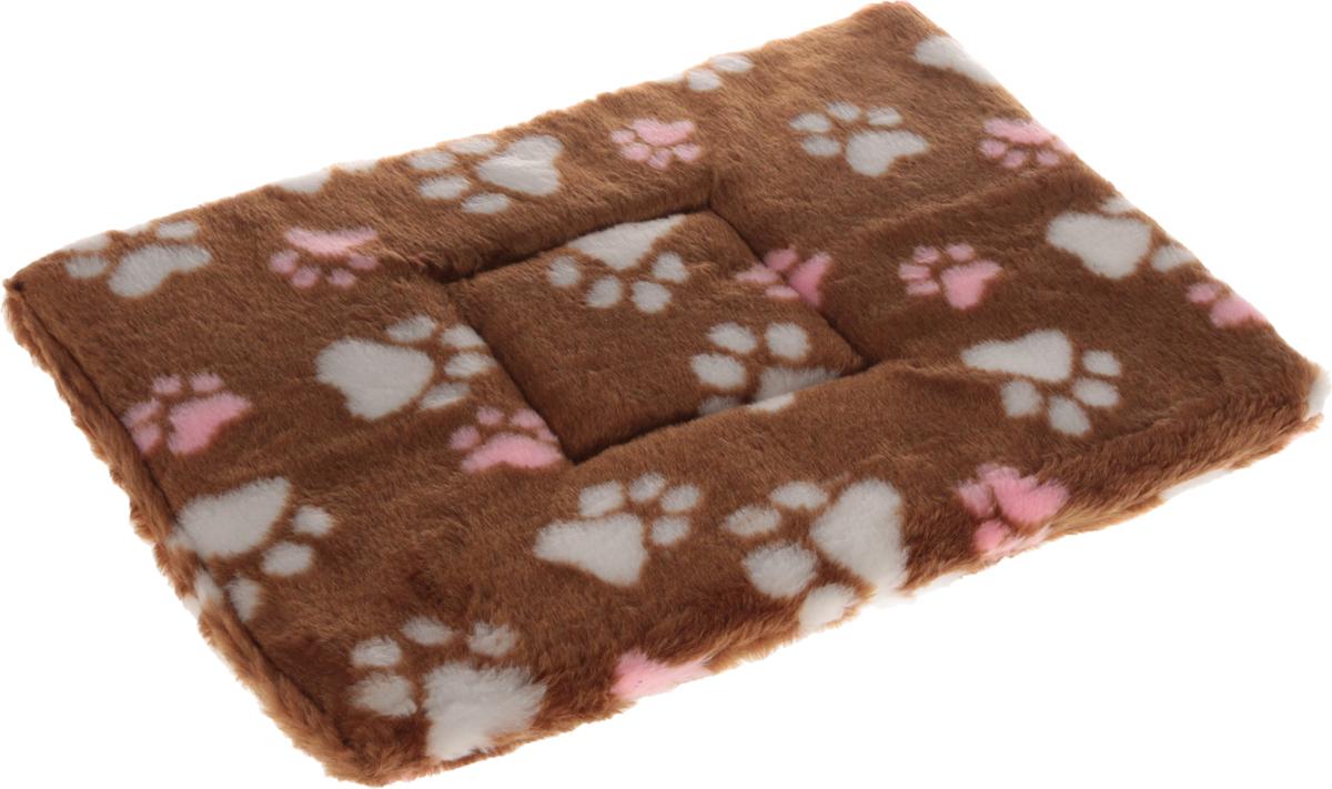 Лежак для животных Elite Valley Матрасик, цвет: светло-коричневый, белый, розовый, 30 х 45 см