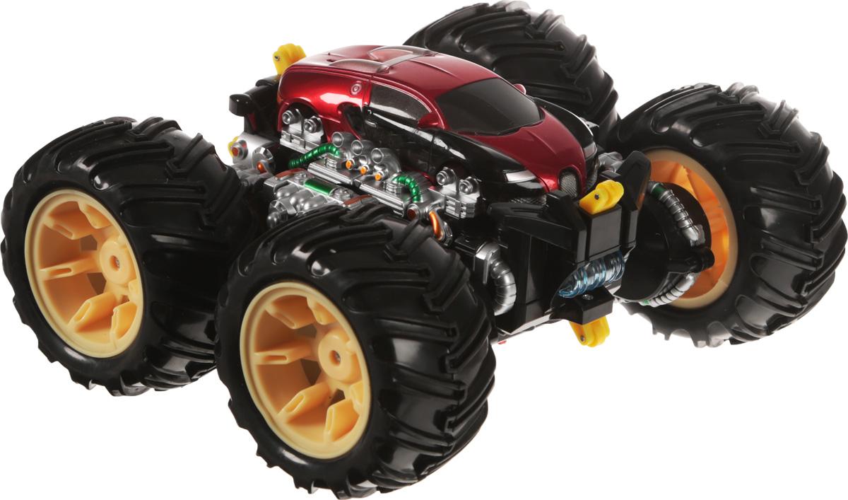 """Трюковая машинка на радиоуправлении """"ZC"""" - это оригинальная машинка со световыми и звуковыми эффектами, которая обязательно порадует маленького любителя автотехники.С этим автомобилем можно устраивать увлекательные заезды, причем специально готовить для него трассу не нужно - он запросто будет гонять даже по поверхности стола или по лестницам. Игрушка проста в управлении, так что с ней справится даже тот, кто впервые возьмет в руки пульт управления. Автомобиль имеет мощные колеса, поэтому он может обойти любые препятствия. Машина едет вперед-назад, поворачивает направо-налево, может вращаться на 360 градусов, а также сами колеса могут вращаться. При движении у нее горит свет и играет музыка.Пульт управления работает на частоте 27 MHz. Игрушка выполнена из высококачественного пластика.Машинка работает от сменного аккумулятора (входит в комплект). Зарядка осуществляется посредством зарядного устройства (входит в комплект). Пульт управления работает от одной батарейки типа """"Крона"""" (входит в комплект)."""