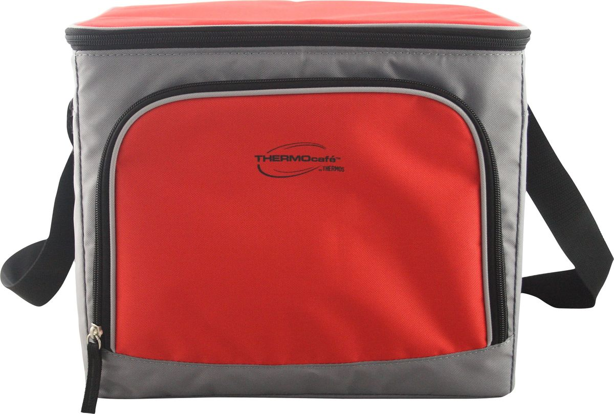 Сумка-термос ThermoCafe Brend 60 Can Cooler, цвет: красный, серый, 45 лWS 7064Сумка-термос ThermoCafe Brend 60 Can Cooler изготовлена с использованием передовой технологии многослойной изоляции из износостойких материалов, устойчивых к UV-излучению, безопасных в контакте с пищей и простых в уходе.Сумка-термос ThermoCafe Brend 60 Can Cooler предназначена для транспортировки и сохранения продуктов питания. Для поддержания температуры рекомендуется использовать с аккумуляторами холода.Сумка-термос имеет одно основное отделение, закрывающееся на застежку-молнию и регулируемый плечевой ремень. На внешней стороне имеется дополнительный карман на молнии.