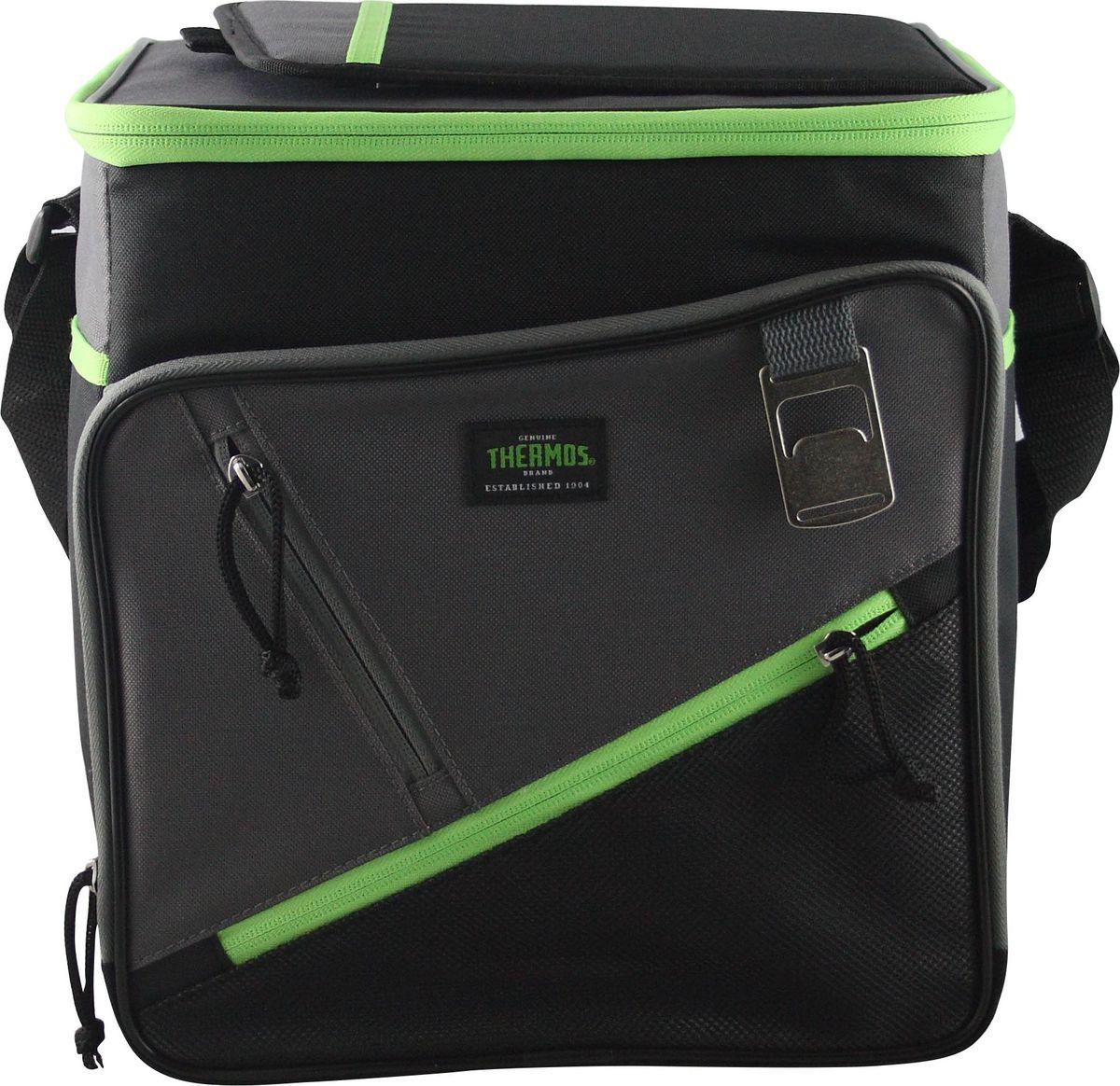 Сумка-термос Thermos Berkley 24 Can Cooler, цвет: зеленый, 15 л67742Термо-сумка отличается легкостью и компактностью. Все сумки складываются и фиксируются в сложенном положении что облегчает хранение. Внутреннее наполнение стенок позволяет сохранять продукты замороженными, свежими или теплыми длительное время. Внутренняя поверхность обладает 100% герметичностью. При перевозке жидкостей это позволяет избежать протеканий.