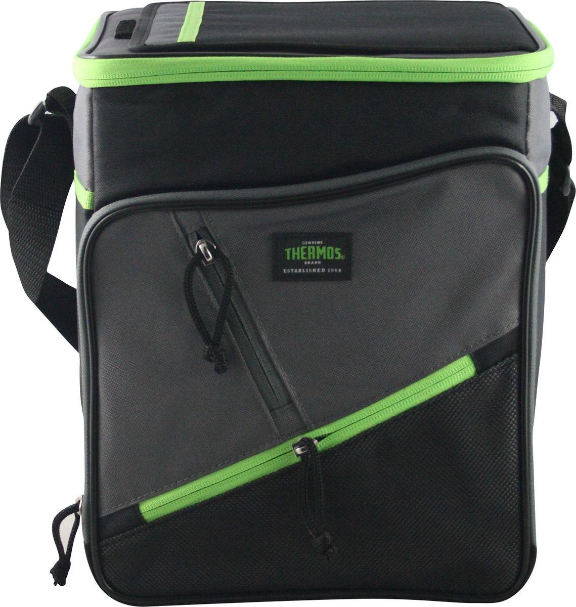 Сумка-термос Thermos Berkley 12 Can Cooler, цвет: зеленый, 9 л67742Термо-сумка отличается легкостью и компактностью. Все сумки складываются и фиксируются в сложенном положении что облегчает хранение. Внутреннее наполнение стенок позволяет сохранять продукты замороженными, свежими или теплыми длительное время. Внутренняя поверхность обладает 100% герметичностью. При перевозке жидкостей это позволяет избежать протеканий.