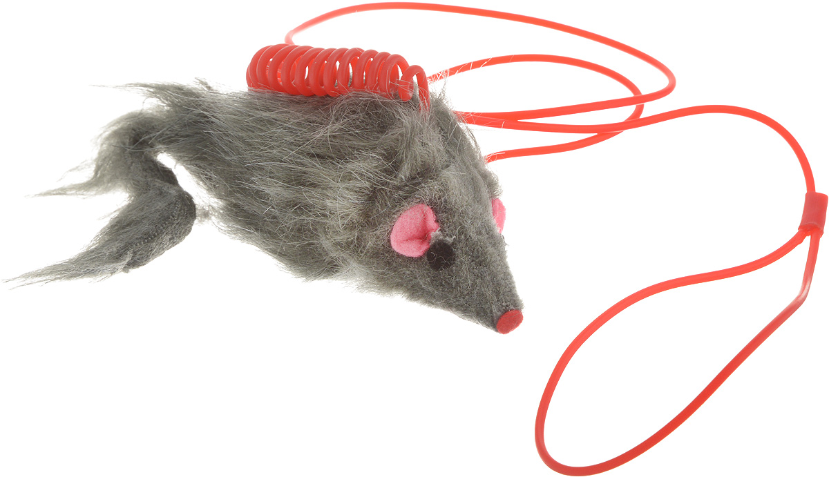 Игрушка для кошек Каскад Мышь, на пружине, цвет: серый, длина 9 см0120710Игрушка для кошек Каскад Мышь изготовлена из искусственного меха, фетра и пластика. Играя с этой забавной игрушкой, маленькие котята развиваются физически, а взрослые кошки и коты поддерживают свой мышечный тонус. Изделие выполнено в виде мыши.Эта интересная и очень необычная игрушка станет любимой у вашей кошки, за ней она весело проведет ни один час. Также игрушка помогает удалить зубной камень и улучшить здоровье зубов.Размер игрушки: 9 х 3,5 х 5 см.