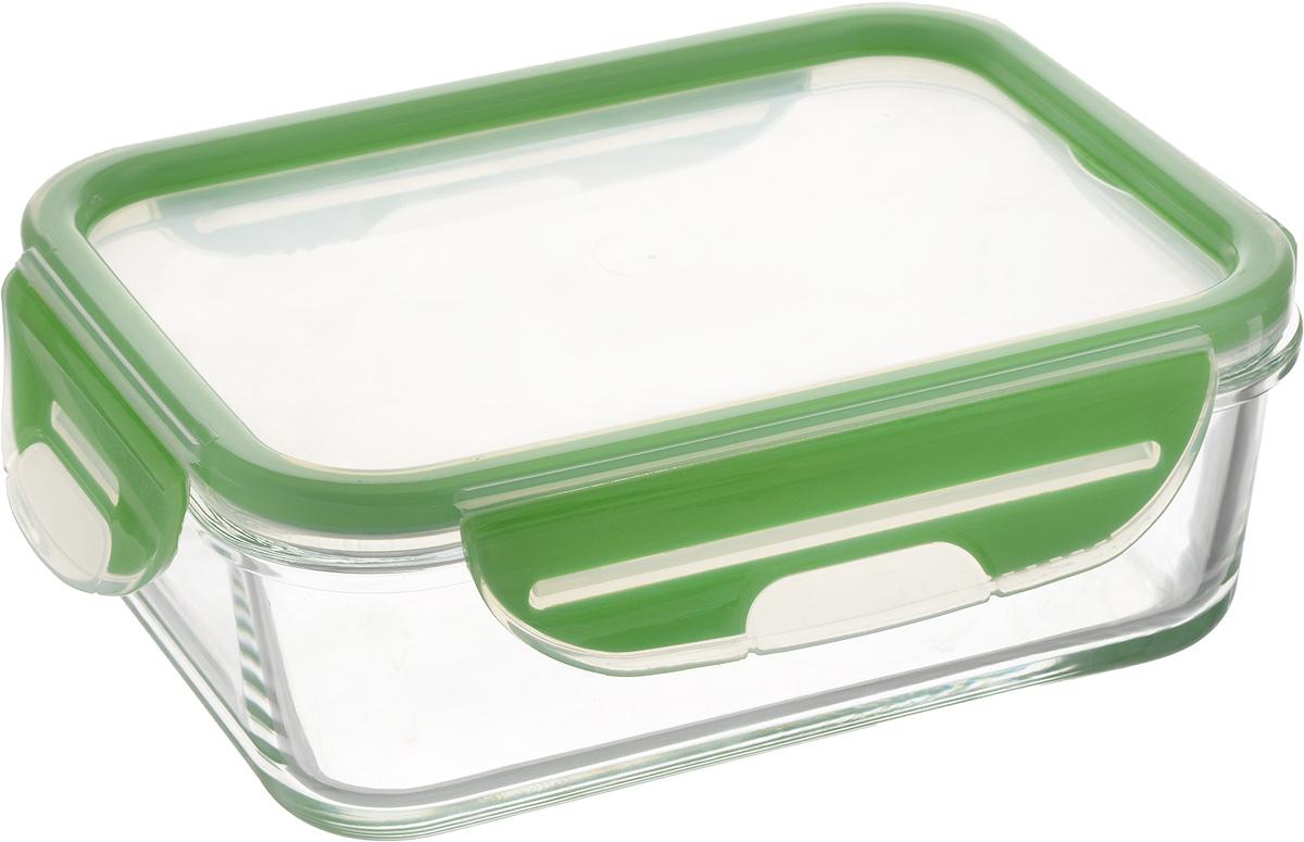 Контейнер для пищевых продуктов Herevin, цвет: зеленый, 900 млVT-1520(SR)Контейнер Herevin, изготовленный из высококачественного стекла, предназначен для хранения любых пищевых продуктов. Крышка из пластика с резиновыми вставками герметично защелкивается специальным механизмом. Изделие устойчиво к воздействию масел и жиров, легко моется. Прозрачные стенки позволяют видеть содержимое. Контейнер имеет возможность хранения продуктов глубокой заморозки, обладает высокой прочностью.Можно мыть в посудомоечной машине и использовать в СВЧ. модель устойчива к температурам до 400°C.Размер контейнера (по верхнему краю): 17,8 х 13 см.Высота контейнера (без учета крышки): 5,5 см.