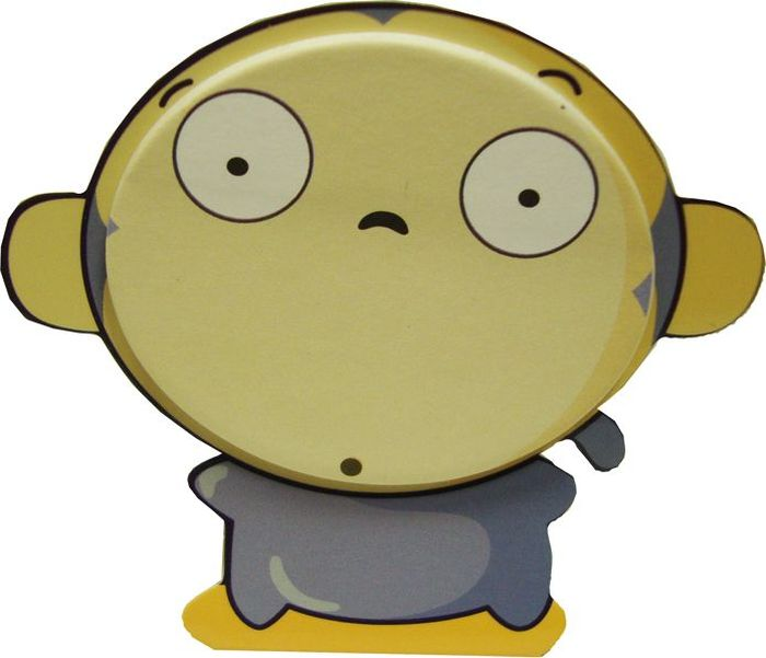 Карамба Набор стикеров Животные мини Обезьяна 20 шт72523WDСтикер на подставке вырезан в виде Обезьяны с 20 листочками.