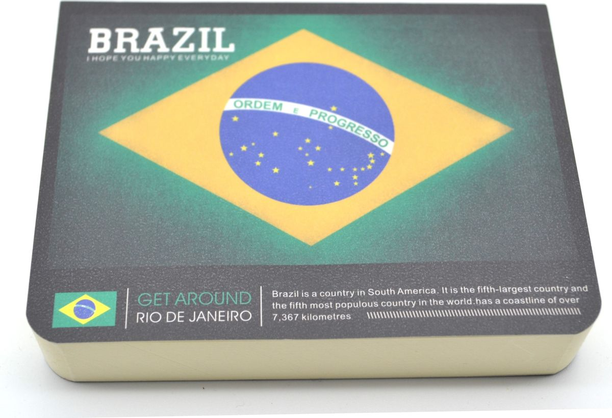 Карамба Блокнот Страны Бразилия 185 листов72523WDСтильный блокнот с белыми нелинованными страницами. 185 листов.