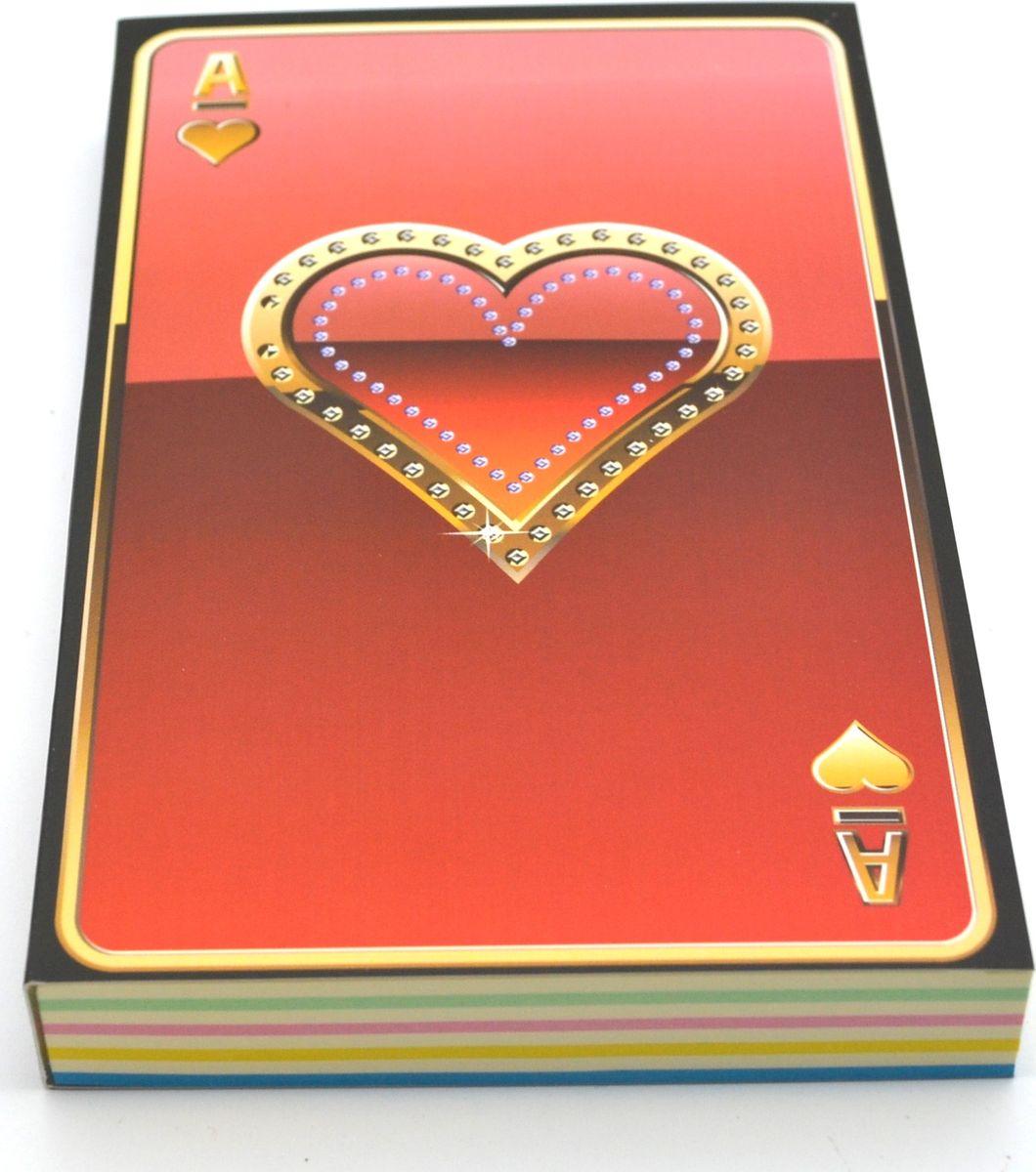 Карамба Блокнот Карты Червы 192 листа72523WDБлокнот Карамба Карты Червы - незаменимый атрибут современного человека, необходимый для рабочих и повседневных записей в офисе и дома. Блокнот содержит 192 листа.Блокнот станет достойным аксессуаром среди ваших канцелярских принадлежностей. Такой блокнот пригодится как для деловых людей, так и для любителей записывать свои мысли, писать мемуары или делать наброски новых стихотворений.