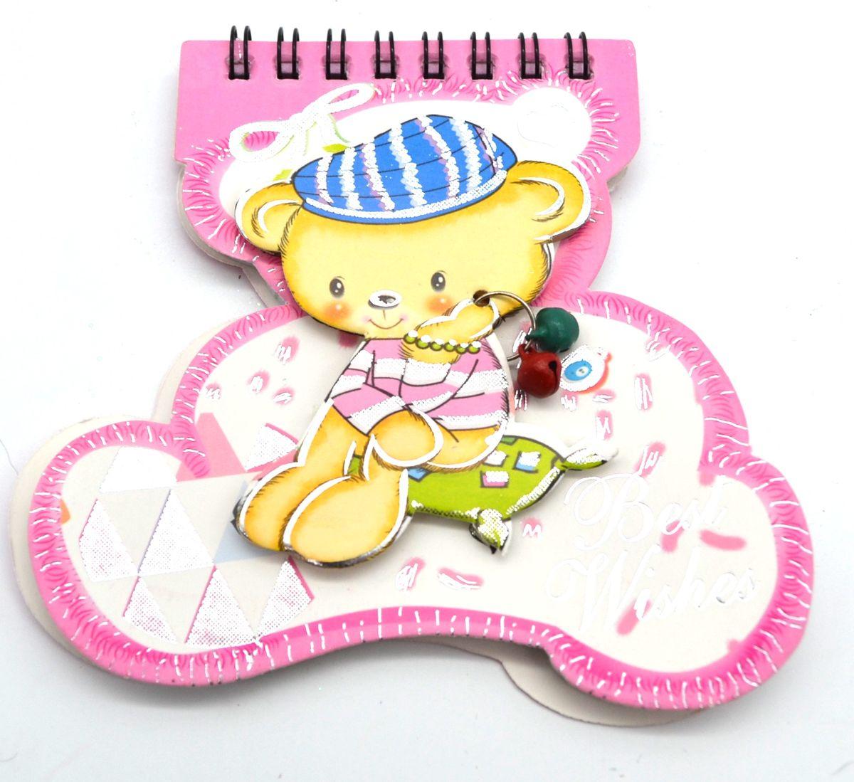 Карамба Блокнот Мишка с бубенчиками 48 листов в линейку цвет розовый 32174051Блокнот Карамба Мишка с бубенчикам на пружине вырублен по форме мишки с объемным изображением мишки с бубенчиками на обложке. Блокнот содержит 48 разлинованных листов в линейку с изображением мишки. Изделие имеет индивидуальную упаковку.