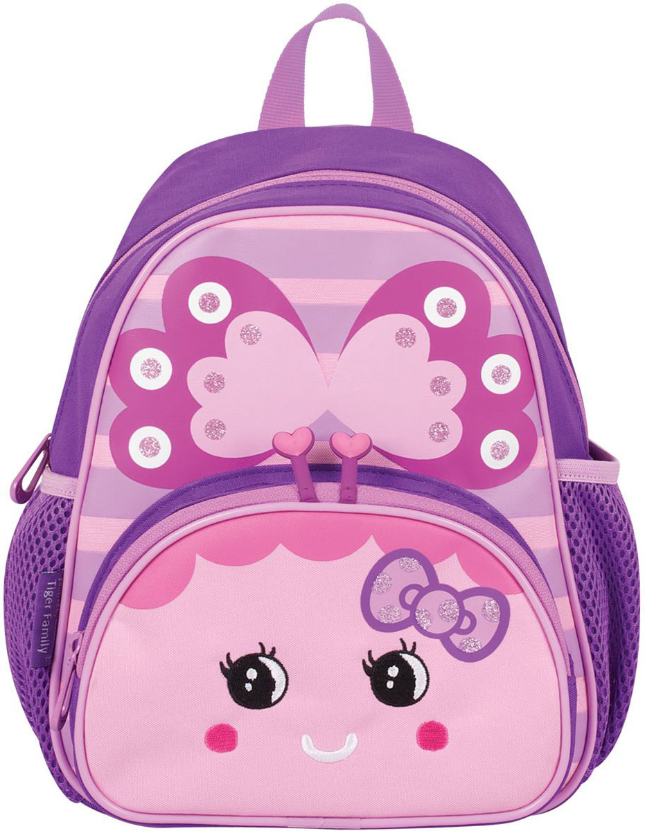 Tiger Enterprise Рюкзак дошкольный Butterfly72523WDВеселый дизайн дошкольного рюкзака Tiger Enterprise Butterfly с эргономичной спинкой и светоотражателями обязательно порадует малыша.Изделие с декоративными элементами предназначено для дошкольного возраста.