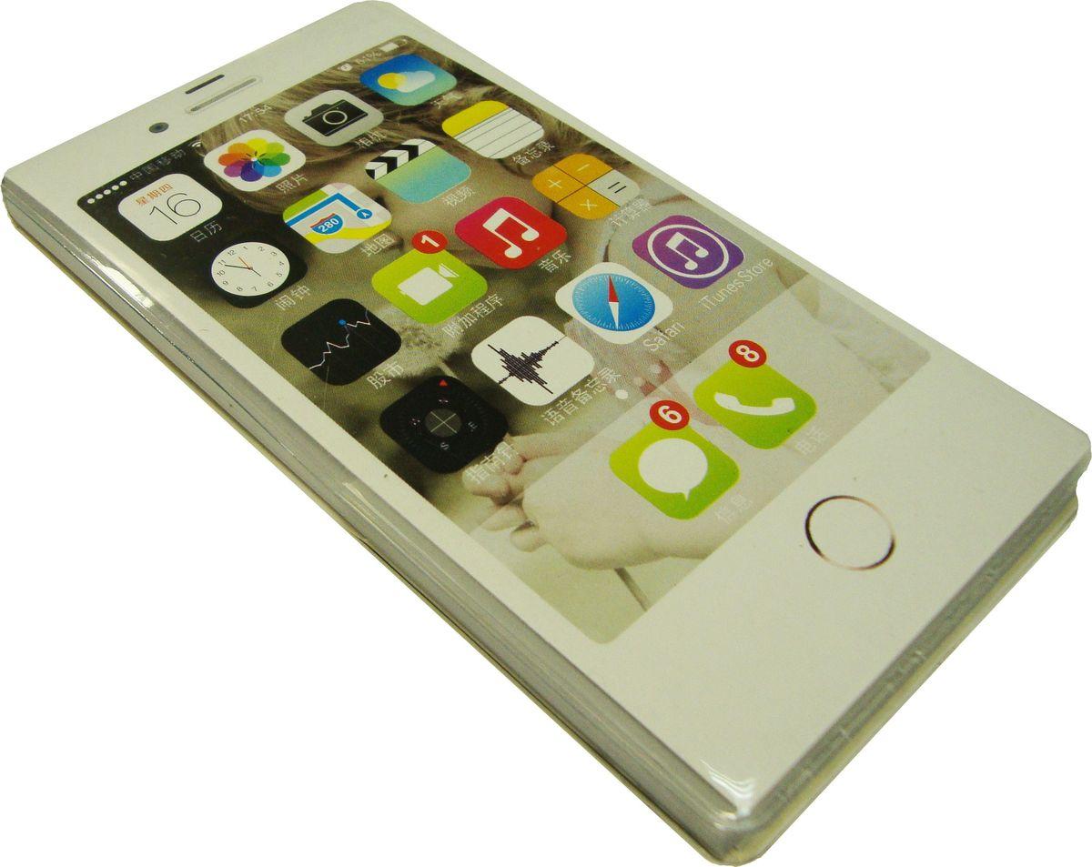 Карамба Блокнот Телефон белый 50 листов в линейку72523WDБлокнот в виде телефона с яркими линованными листами с принтом