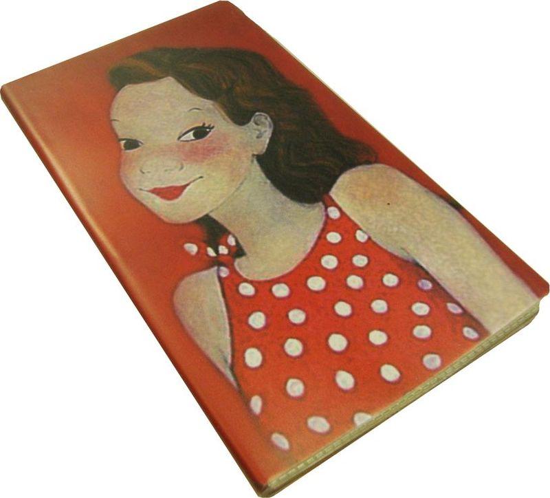 Карамба Блокнот Девочка в платье в горошек 54 листов в линейку72523WDБлокнот в полиэтиленовой обложке с 54 линованными листами с рисунком