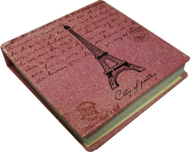Карамба Блокнот Эйфелева башня 95 листов цвет розовый72523WDБлокнотик с нелинованными листами с принтом в виде Эйфелевой башни