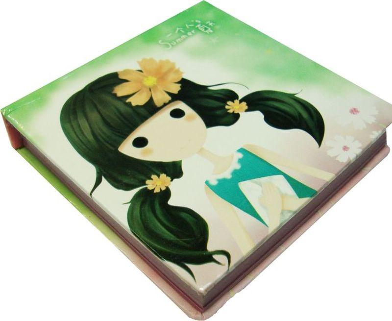 Карамба Блокнот Девочка 95 листов цвет бледно-зеленый72523WDБлокнотик с нелинованными листами с цветными картинками