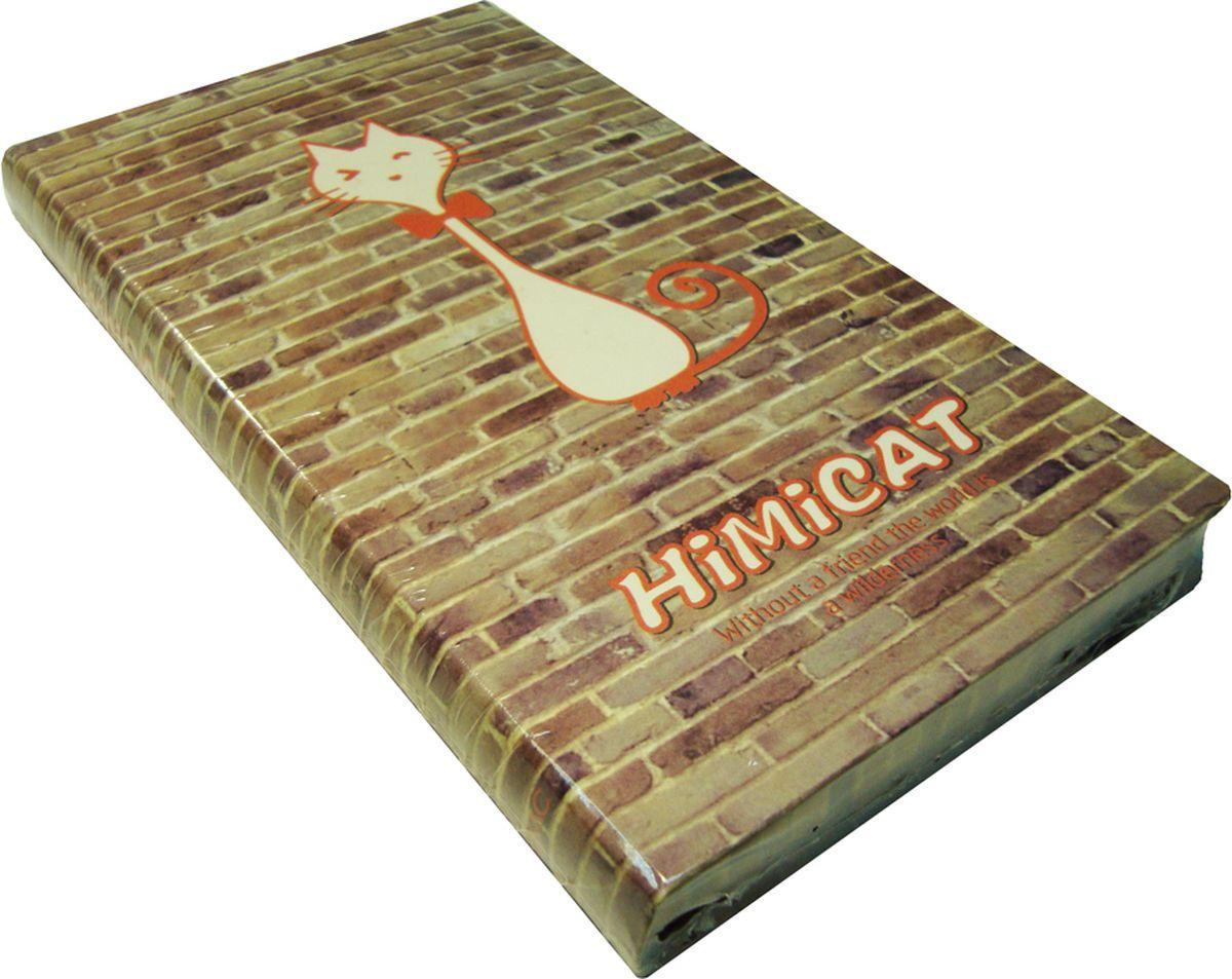 Карамба Блокнот Рисованная красная кошка на кирпичной стене 96 листов в линейку -  Бумага и бумажная продукция