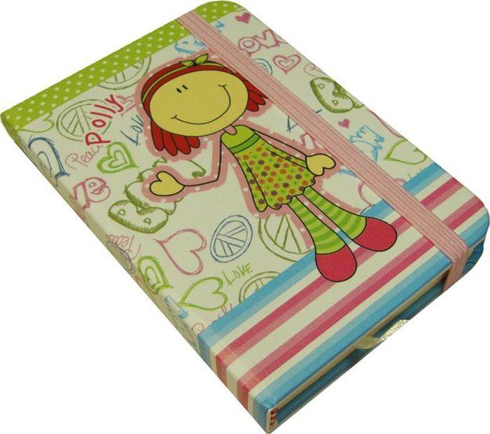 Карамба Блокнот Девочка на белом фоне 96 листов в линейку72523WDБлокнот с жесткой обложкой с 96 листами в линейку
