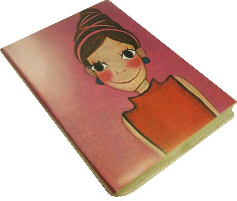 Карамба Блокнот Девочка с прической с лентами 100 листов в линейку72523WDБлокнот в полиэтиленовой обложке со 100 линованными листами