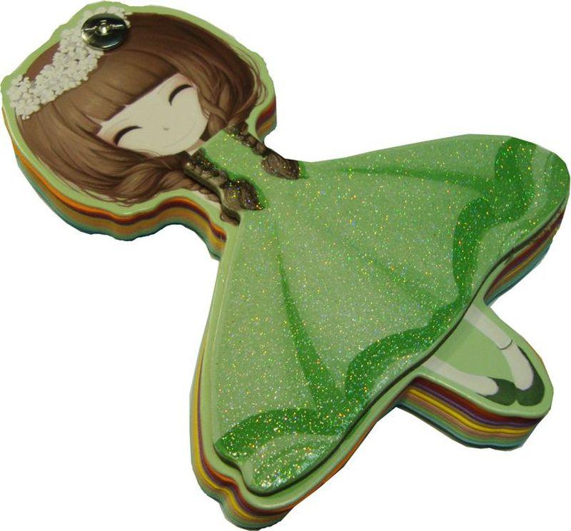 Карамба Блокнот Девочка Зеленое платье 96 листов72523WDБлокнот выполнен в виде фигурки девочки.