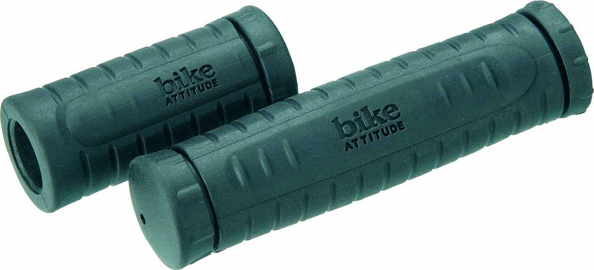 Грипсы Bike Attitude VLG541, 135/92 мм, цвет: черный, 2 шт грипсы 130 мм кратон vlg 609