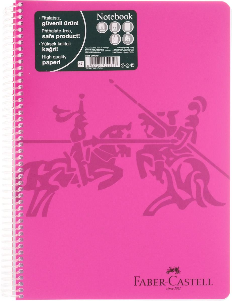Faber-Castell Блокнот Knight 140 листов без разметки цвет розовый730396Оригинальный блокнот Faber-Castell Knight в твердой пластиковой обложке подойдет для памятных записей, любимых стихов и многого другого.Блок состоит из 140 листов без разметки. Блокнот изготовлен со спиралью. Такой блокнот станет не только достойным аксессуаром среди ваших канцелярских принадлежностей, но и практичным подарком для в близких и друзей.