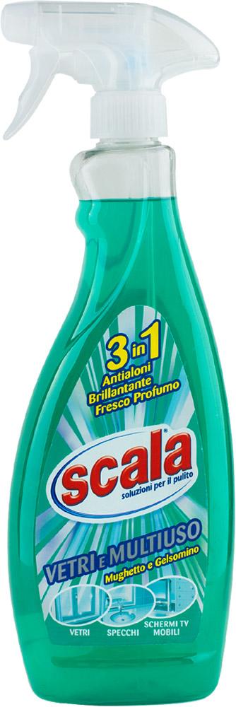 Средство для мытья окон SCALA, 750 мл787502Подходит для стекол, хрусталя, зеркал и ламп, с эффектом антипыль и полировки. Оставляет приятное благоухание ландыша и жасмина.
