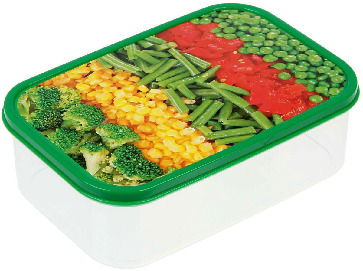 Ланч-бокс Доляна Овощи, прямоугольный, 1,2 л1333939Ланч-бокс Доляна изготовлен из прочного пищевого пластика. В комплекте прилагается крышка подходящего размера, которая плотно и надежно закрывается и упрощает процесс транспортировки. Такой контейнер является незаменимым предметом кухонной утвари, ведь у него много преимуществ: Простота ухода. Ланч-бокс достаточно промыть теплой водой с небольшим количеством чистящего средства. Вместительность. Изделие позволяет разместить разнообразные продукты от сахара до супов. Эргономичность. Ланч-боксы очень легко хранить даже в самой маленькой кухне, так как их можно поставить один в другой по принципу матрешки. Многофункциональность. Он пригодится, если после вкусного обеда осталась еда, а насладиться трапезой хочется и на следующий день. Можно использовать не только на кухне, но и для хранения различных бытовых предметов, а также брать с собой еду на работу или учебу. Не использовать пластиковые контейнеры в духовых шкафах и на открытом огне, а также не разогревать в микроволновых печах при закрытой крышке ланч-бокса.