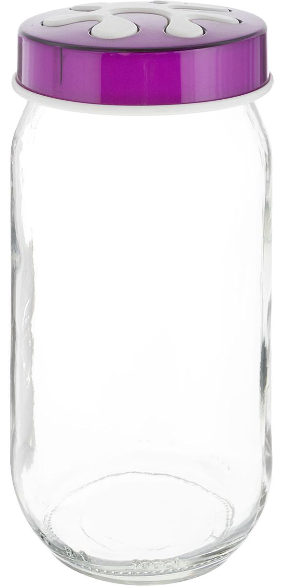 Банка для сыпучих продуктов Herevin, цвет: фиолетовый, прозрачный, 1 л. 135377-205135377-205_фиолетовыйБанка для сыпучих продуктов Herevin выполнена из высококачественного прочного стекла. Изделие снабжено плотно закручивающейся пластиковой крышкой с рельефным узором. Прозрачные стенки позволяют видеть содержимое. Такая банка отлично подойдет для хранения различных сыпучих продуктов: орехов, сухофруктов, чая, кофе, специй. Диаметр банки: 9 см. Высота банки: 18 см.