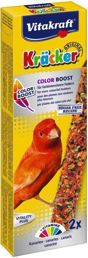 Крекеры для канареек Vitakraft, для окраса пера, 2 шт26238Крекер является прекрасным дополнением к основному рациону. Содержит незаменимые аминокислоты и микроэлементы, поддерживает здоровый цвет оперения. Трёхкратное запекание предотвращает быстрое осыпание. Состав: семена, злаки, минеральные вещества, продукты растительного происхождения, овощи (паприка 1%), яйца и яйцесодержащие продукты, мед, водоросли. Витамины: А 6500 МЕ, Д3 650 МЕ, бета-каротин 31,4 мг, железо 115,44 мг.Товар сертифицирован.