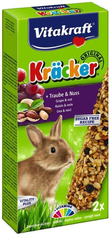 Крекеры для кроликов Vitakraft, ореховые, 2 шт25016Питательный крекер является дополнительным источником витаминов и минералов. Поддерживает здоровье, жизненный тонус. Изготовлен по уникальной технологии 3-х ступенчатого запекания. Натуральная деревянная палочка и зажим для крепления в клетке делают лакомство удобным в использовании. Состав: злаки, семена, орехи, овощи, мед, лецитин. Добавки: витамин А, витамин D3, витамин Е. Пищевая ценность на 100 г продукта: протеин - 11,4 г, жиры - 5,4 г, клетчатка - 3,8 г, зола -3,3 г, углеводы - 61,6 г, кальций - 1,3 г, фосфор - 0,9 г. Товар сертифицирован.