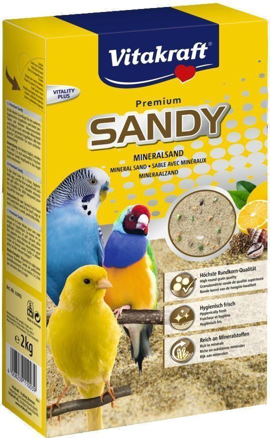 Песок для птиц Vitakraft Bio Sand, 2 кг11003Натуральный песок с ценными минералами и ракушечным известняком. Имеет приятный запах аниса и цитруса и поддерживает гигиену в клетке. Способствует здоровому развитию костей. Мелкая фракция песка не травмирует кожу и перья.