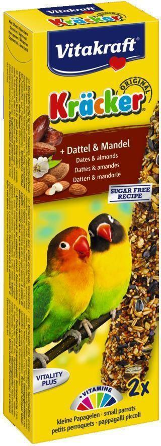 Крекеры для африканских попугаев Vitakraft, фруктовые, 2 шт.0120710Крекер содержит жизненно необходимые минералы и витамины, полезен для перьев и делает птицу жизнерадостной, так как она должна самостоятельно каждый раз добывать себе зерно, как в дикой природе.