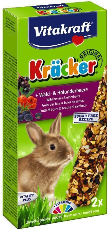 Крекеры для кроликов Vitakraft, лесные ягоды, 2 шт.0120710Питательный крекер является дополнительным источником витаминов и минералов. Поддерживает здоровье, жизненный тонус.