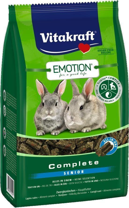Корм для стареющих кроликов Vitakraft Complete, 800 г33770Сбалансированный корм для кроликов старше 5 лет. Содержит пребиотик инулин, все жизненно важные аминокислоты и докозагексаеновую кислоту, наиболее ценную из Омега-3 жирных кислот, важную для функции сердца, головного мозга и иммунной системы. Исключает выборочное поедание.Состав: продукты растительного происхождения (тимофеевка луговая 20%, черноплодная рябина 1%), злаки, овощи, инулин 2,1%, минералы, водоросли, экстракт юкки, дрожжи. Товар сертифицирован.