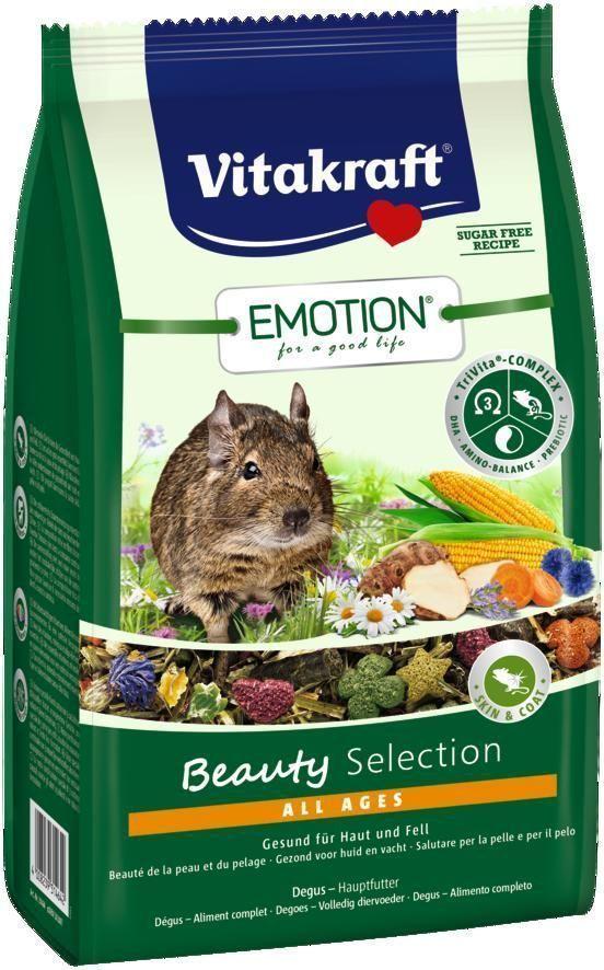 Корм для дегу Vitakraft Beauty Selection, 600 г134Сбалансированный корм для дегу всех возрастов. Содержит ценные масла, обеспечивающие красивую и здоровую шерсть, пребиотик инулин, все жизненно важные аминокислоты и докозагексаеновую кислоту, важную для функции сердца, головного мозга и иммунной системы. Состав: продукты растительного происхождения, овощи 19,9%, злаки 16,1%, инулин 1,9%, семена, васильки 1%, масла и жиры 0,84%, минералы, лепестки ромашки 0,5%, водоросли, экстракт юкки. Анализ состава: 15% клетчатка, 0,06% ДГК. Пищевые добавки на 1 кг: витамин А 9093 МЕ, витамин Д3 583 МЕ, селен 0,24 мг, железо 77,02 мг, йод 0,3 мг, медь 8,12 мг, марганец 42,49 мг, цинк 44,33 мг. Товар сертифицирован.