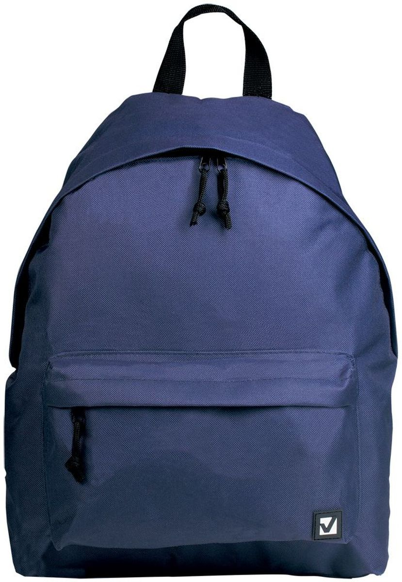 Brauberg Рюкзак Сити-формат цвет синий72523WDКлассический однотонный рюкзак сдержанных расцветок станет незаменимым спутником активной молодежи, которая ценит практичность. Плотная ткань рюкзака обеспечит сохранность содержимого, а вместительное отделение позволит иметь при себе все необходимое.•1 отделение, 1 карман. •Водоотталкивающая ткань. •Широкие регулируемые лямки. •Размер: 41х32х14 см. •Цвет - синий. •Объем: 20 литров.