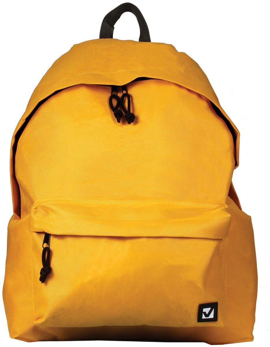 Brauberg Рюкзак Сити-формат цвет желтый72523WDКлассический однотонный рюкзак сдержанных расцветок станет незаменимым спутником активной молодежи, которая ценит практичность. Плотная ткань рюкзака обеспечит сохранность содержимого, а вместительное отделение позволит иметь при себе все необходимое.•1 отделение, 1 карман. •Водоотталкивающая ткань. •Широкие регулируемые лямки. •Размер: 41х32х14 см. •Цвет - желтый. •Объем: 20 литров.