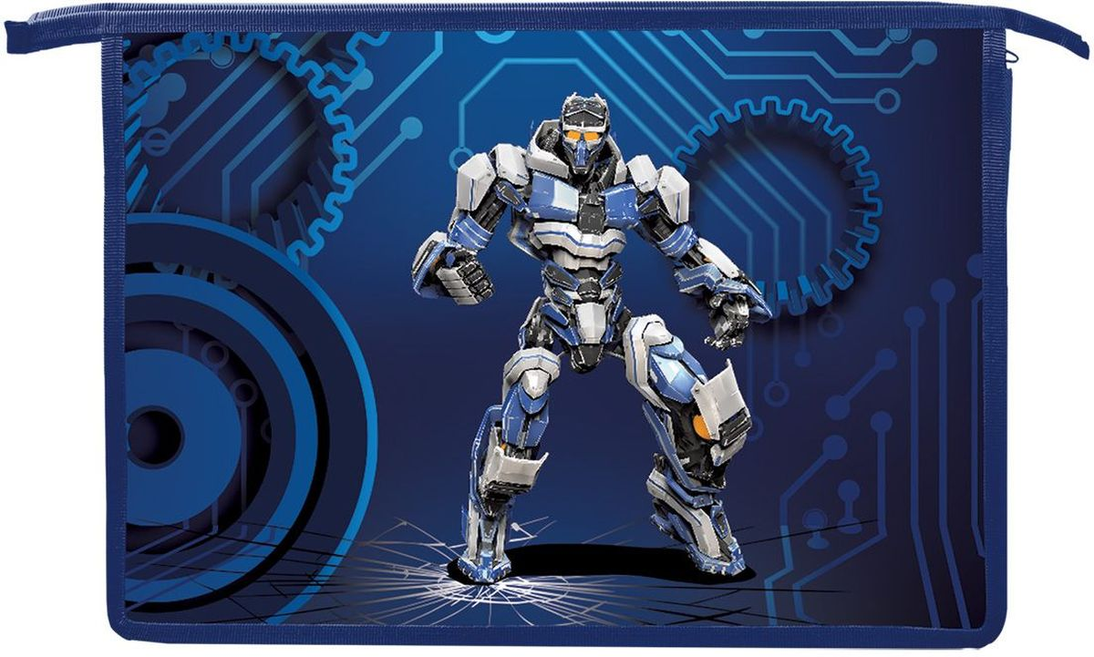 Brauberg Папка для тетрадей РоботFS-36054Папка для тетрадей Робот предназначена для мальчиков 7-10 лет. Она выполнена в черном и темно-синем цвете, а дополняет её изображение робота, которое привлечет внимание маленьких техников.•Формат А4 (330х230 мм). •Изготовлена из пластика. •1 отделение. •Застежка-молния по верхнему краю папки.
