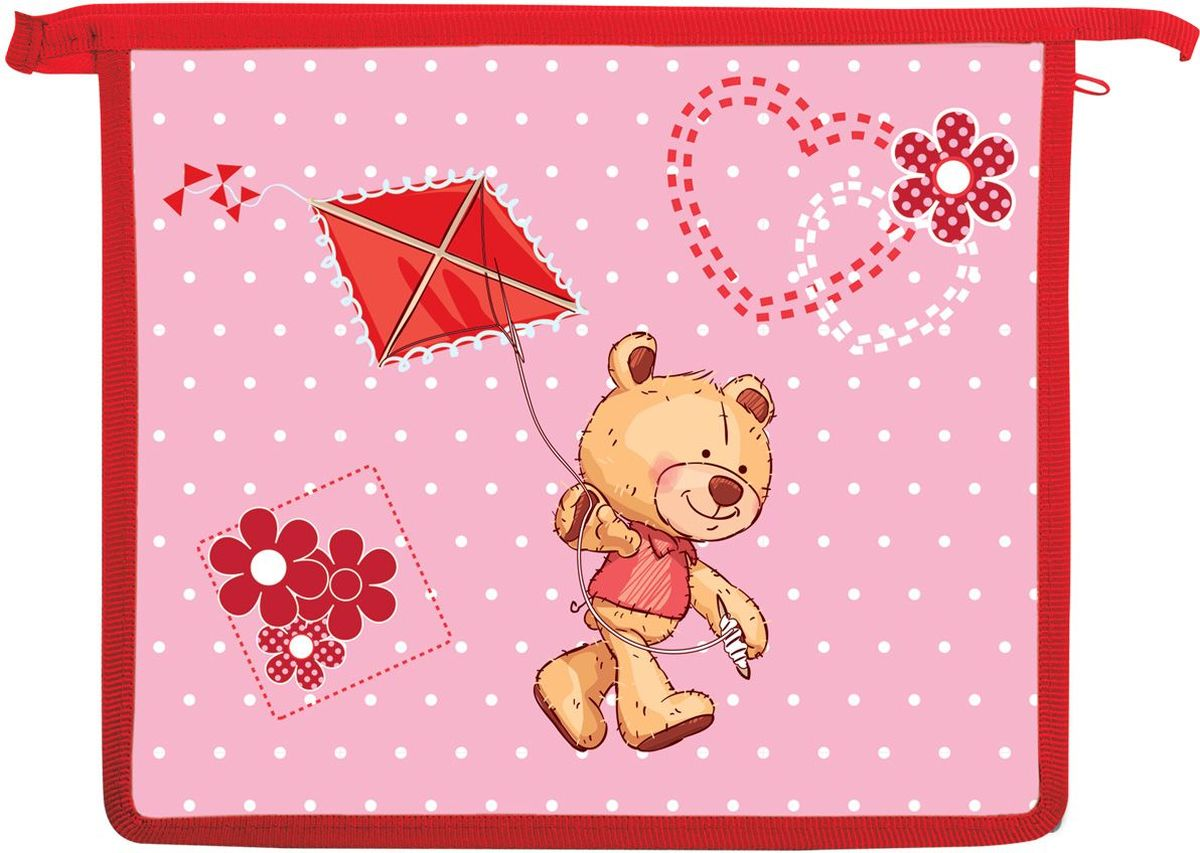 Brauberg Папка для тетрадей МишкаFS-00103Папка для тетрадей Мишка предназначен для девочек 7-10 лет. Выполнена в красно-розовом цвете и дополнена необычным принтом. Благодаря такой яркой расцветке, с этой папкой ребенок всегда будет выглядеть нарядно и опрятно.•Формат А5 (232*198 мм). •Изготовлена из пластика. •1 отделение. •Застежка-молния по верхнему краю папки.