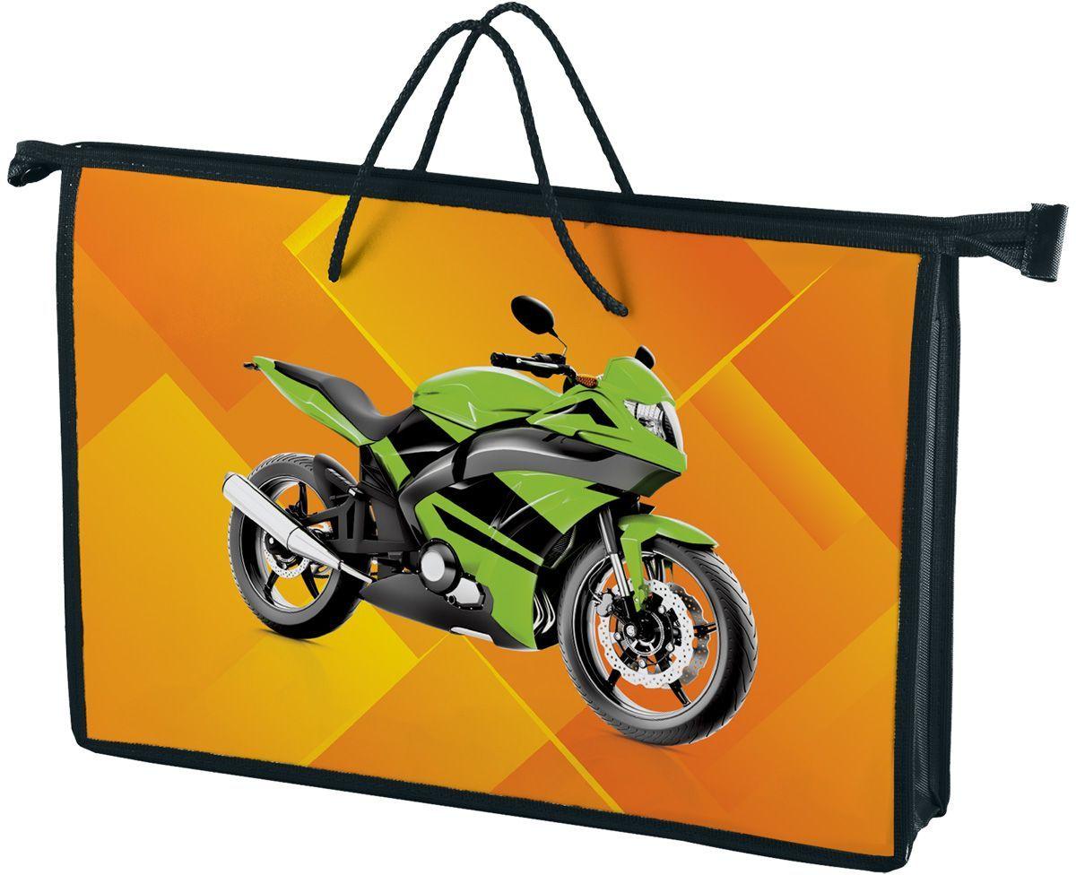 Brauberg Папка-сумка МотоциклFS-54100Папка-сумка с изображением мотоцикла предназначена для мальчиков 7-10 лет. Она сделана из прочного пластика и снабжена мягкими ручками для удобного переноса. Её яркий дизайн обязательно привлечет внимание современного ребенка.•1 отделение. •Формат А4. •Застегивается на молнию. •Мягкие веревочные ручки. •Материал - пластик.