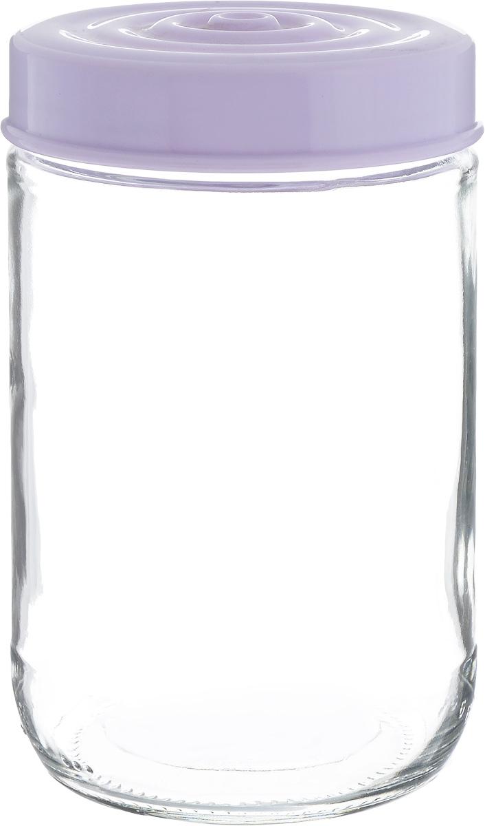 Банка для сыпучих продуктов Herevin, цвет: сиреневый, прозрачный, 660 мл. 140367-500203112589Банка для сыпучих продуктов Herevin выполнена из высококачественного прочного стекла. Изделие снабжено плотно закручивающейся пластиковой крышкой с рельефом. Прозрачные стенки позволяют видеть содержимое. Такая банка отлично подойдет для хранения различных сыпучих продуктов: орехов, сухофруктов, чая, кофе, специй. Диаметр банки: 8,5 см. Высота банки: 14 см.