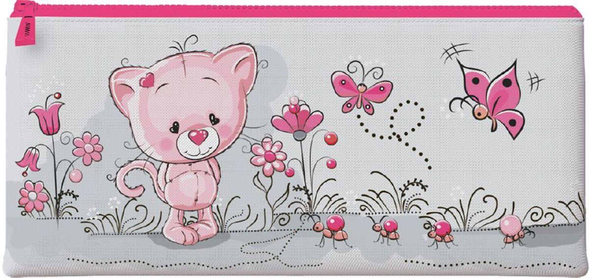 Brauberg Пенал-косметичка Игрушка226317Пенал-косметичка предназначен для детей 7-10 лет. Он выполнен в ярких цветах и дополнен необычным принтом.•1 отделение. •Размер: 20х10 см. •Индивидуальная упаковка с европодвесом.