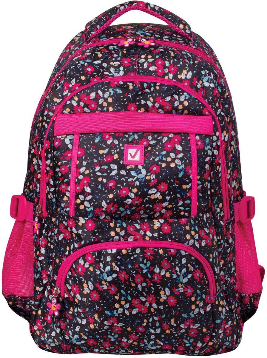 Brauberg Рюкзак Цветы72523WDСтильный рюкзак для старшеклассников и студентов. Выполнен из износостойкого материала. Способен выдерживать большие нагрузки, с которыми ежедневно сталкиваются активные молодые люди.•1 отделение, 5 карманов. •Ремни регулировки объема. •Материал - полиэстер. •Размер: 45х31х12 см. •Объем: 26 литров. •Вес: 0,55 кг.